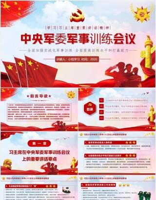 党政风中央军委军事训练会议解读PPT模板