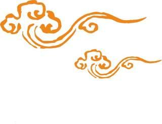 古典古风祥云云纹图案边框花边元素PNG免抠元素设计素材12