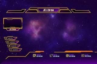 水母抽搐覆盖UI界面PSD设计模板jelly fish twitch overlay template