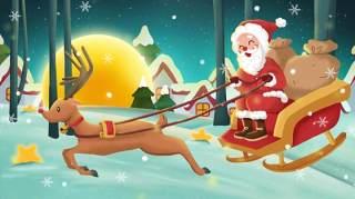 手绘插画圣诞节圣诞老人圣诞树雪人主题活动PSD设计素材17