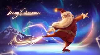 手绘插画圣诞节圣诞老人圣诞树雪人主题活动PSD设计素材12