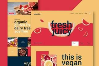 生鲜食品网站UI界面设计PSD模板fresh food website