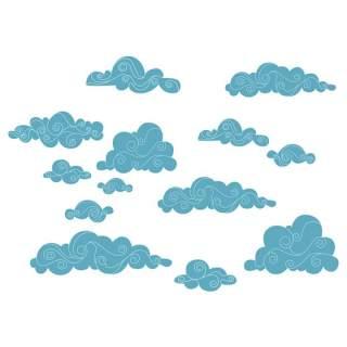古典古风祥云云纹图案边框花边元素PNG免抠元素设计素材125