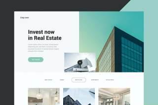 商业地产网站UI界面设计PSD模板business real estate website
