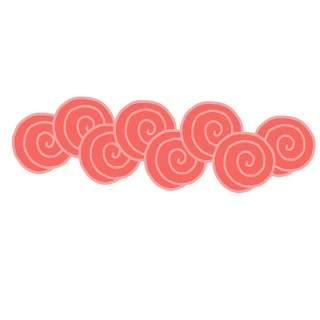 古典古风祥云云纹图案边框花边元素PNG免抠元素设计素材103