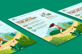 体育活动DM宣传EPS矢量插画设计模板Sport Activities Flyer Illustration Template