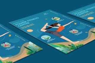 体育活动宣传页EPS矢量插画设计模板Sport Activities Flyer Illustration Template