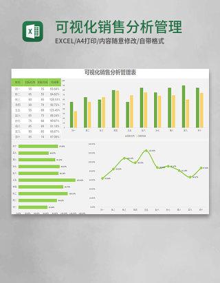 可视化销售分析管理表Execl模板