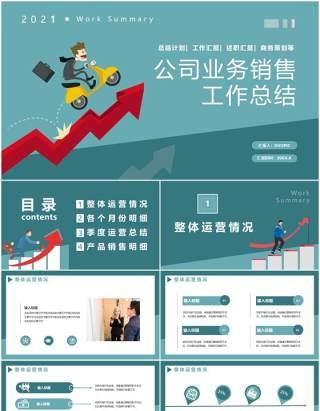公司业务销售工作总结计划汇报通用PPT模板