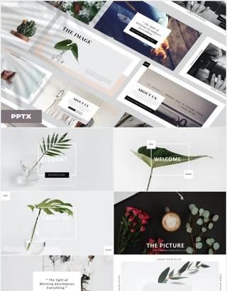优雅高端作品展示PPT模板Elegant - Powerpoint Template