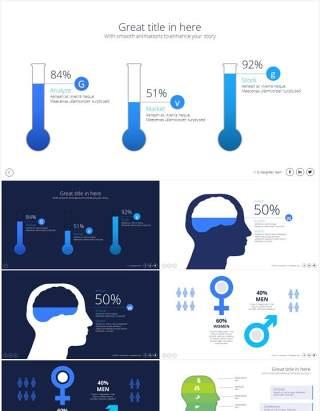 科学实验化学图形PPT素材Science