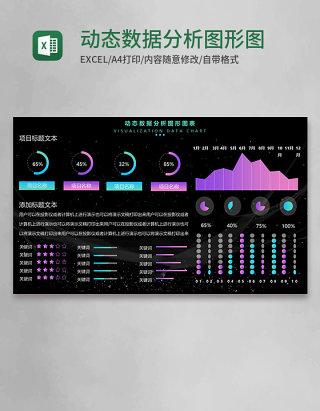 动态数据分析图形图表Execl模板