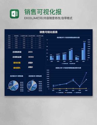 销售可视化报表Execl模板