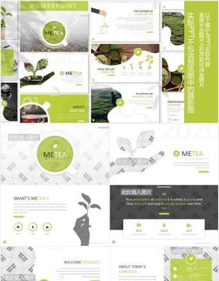 天然农作物绿色植物图片排版设计PPT模板Metea - Plant Powerpoint Template