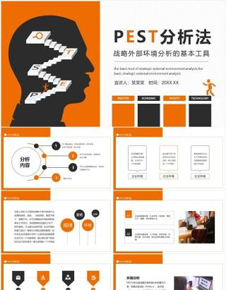 PEST分析法战略外部环境分析的基本工具动态PPT模板