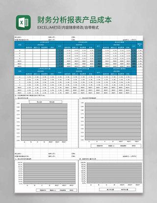 财务分析报表产品成本分析表excel模板
