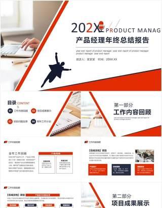 产品经理年终工作总结报告计划汇报动态PPT模板
