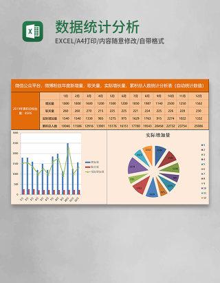 数据统计分析表Excel模板