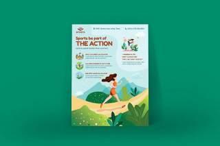 体育活动海报EPS矢量插画设计模板Sport Activities Poster Illustration Template