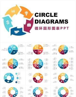 多样循环圆形信息图表可视化PPT素材Circle_Diagrams