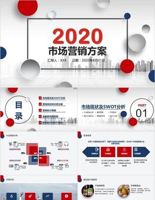 微粒体大气市场营销方案工作计划PPT模板