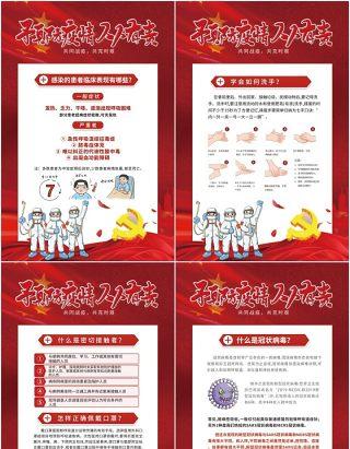预防疫情人人有责新冠状病毒疫情防控复工知识宣传海报PSD模板素材