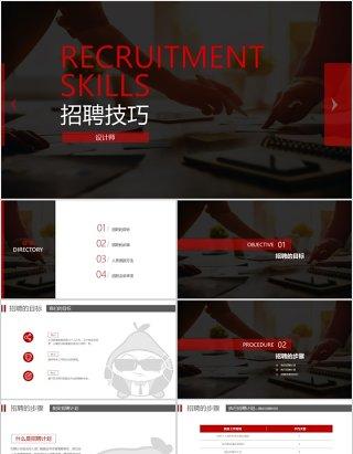 企业招聘流程招聘技巧PPT模板