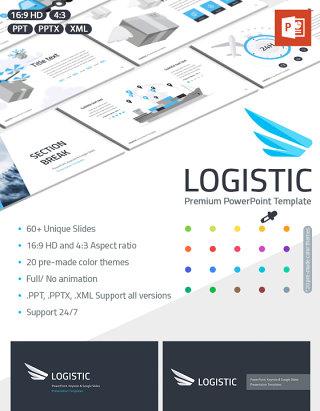 物流管理PPT模板演示 Logistics management PPT presentation