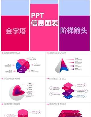 金字塔阶梯箭头PPT信息图表