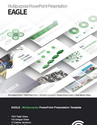 多功能PPT信息演示模板EAGLE ultipurpose PowerPoint Presentation Template