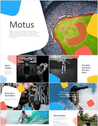 多用途户外运动健身展示宣传PPT模板motus multipurpose powerpoint template