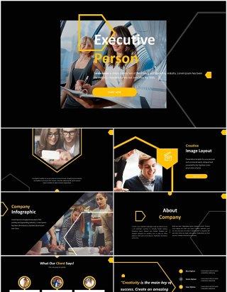 管理层领导项目报告总结汇报PPT图表素材模板executive person powerpoint template