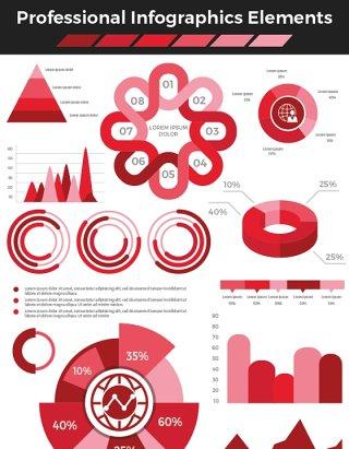 红色专业信息海报/PPT图形元素海报/PPT可编辑矢量素材