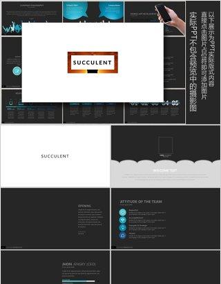 优质创意版式设计PPT工作模板SUCCULENT Powerpoint