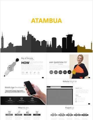 高端商务工作报告通用数据图表PPT模板ATAMBUA