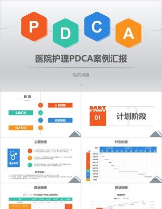 医院护理pdca循环案例品管圈汇报ppt模板