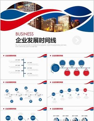 企业发展时间线公司历程时间轴PPT模板