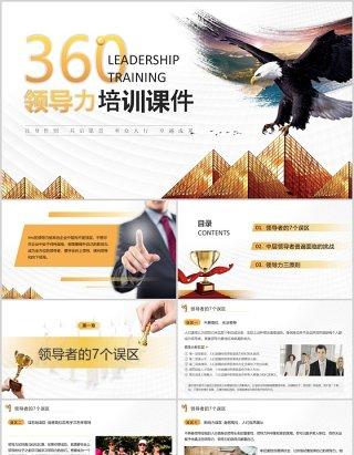 商务大气实用企业员工培训360度领导力培训课件PPT模板