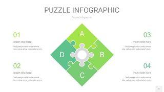 浅绿色拼图PPT图表3