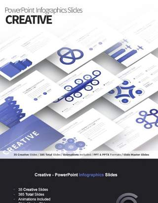 创意PPT信息图表幻灯片Creative PowerPoint Infographics Slides
