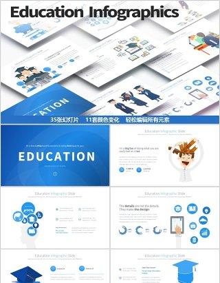 教育PPT信息图表模板Education PowerPoint Infographics Main