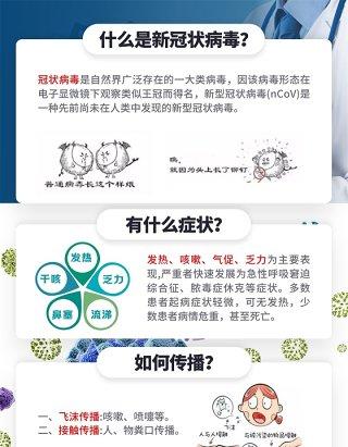 13张疫情防控新冠状病毒工作区域复工知识A4宣传页PSD素材模板