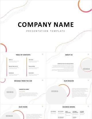 时尚简洁公司宣传介绍PPT图片排版模板Company Profile Powerpoint Template