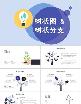 树状分支图形PPT素材