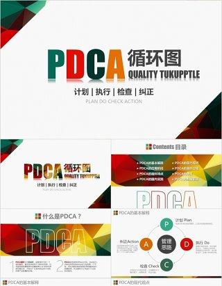 企业质量管理案例PDCA循环图工作通用PPT模板