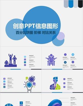原创创意百分比饼图PPT信息图形