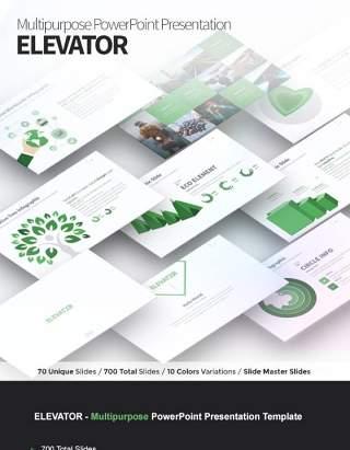 分层阶梯多功能PPT信息图表模板ELEVATOR Multipurpose PowerPoint Presentation Template