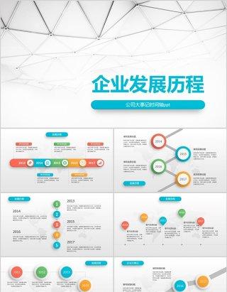 原创时间轴PPT模板公司发展历程企业大事记-版权可商用