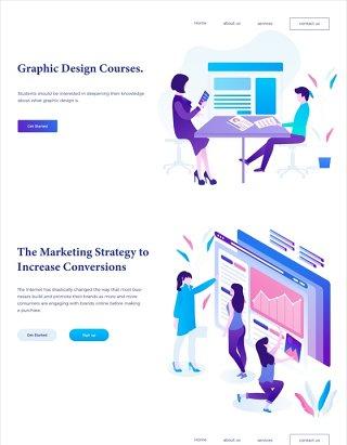 30款职场营销教育在线课程插画人物素材AI矢量