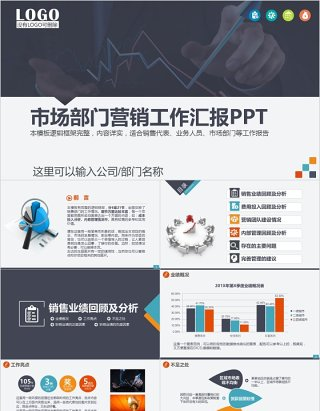 市场部门营销计划工作汇报PPT模板